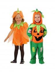 Paarkostüm Kürbis für Kleinkinder Halloween orange-grün