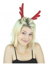 Rentier-Clips Weihnachten Kopfschmuck rot