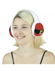Ohrenwärmer Weihnachtsmann Zubehör für Erwachsene rot-schwarz-weiss