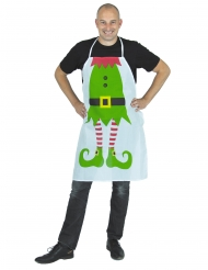 Elfen-Schürze weihnachtliches-Zubehör Wichtel grün-weiss-rot