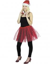Glitzernder Petticoat für Damen Weihnachten rot