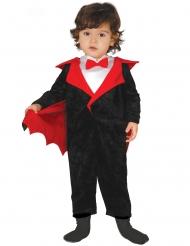 Niedliches Vampir-Kostüm für Kinder Halloween schwarz-rot