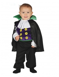 Vampir-Kostüm für Kleinkinder schwarz-lila-weiss