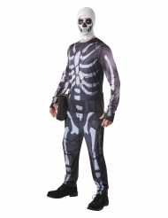Fortnite™-Schädel Trooper Halloween Cosplay-Lizenzkostüm schwarz-weiss