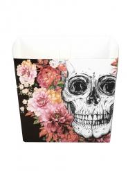 Skelett-Behälter Tischdekoration für Halloween 6 Stück bunt 40cl