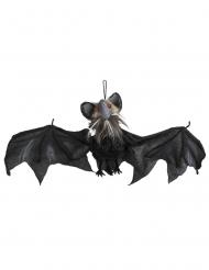 Schaurige Fledermaus animiert Halloween-Dekoration schwarz 45x80cm