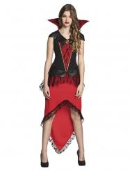 Teenager Vampir-Verkleidung Halloween-Kostüm schwarz-rot