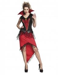 Dämonische Vampirin Halloween-Damenkostüm schwarz-rot