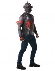 Black Knight™-Fortnite Kostüm für Erwachsene grau-rot