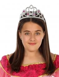 Prinzessinnen-Krone Accessoire für Mädchen silber-rosa