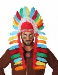 Häuptlings-Kopfschmuck Indianer für Erwachsene bunt