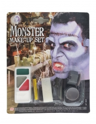 Monstermäßiges Make-up Schmink-Set Monster Halloween bunt