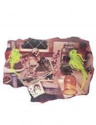 Skelett-Dekoration Wanddeko Halloween bunt 38x27cm