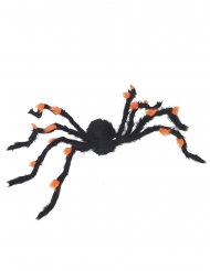 Riesen-Spinne Halloween Deko schwarz-orange 108cm