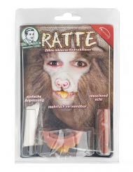 Ratten-Gebiss mit Fixier-masse Make-up Set