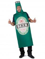 Lustiges Bier-Kostüm für Erwachsene Humor grün-weiss-schwarz
