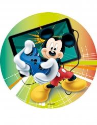 Mickey Maus™-Zuckerplatte Kuchendeko bunt 18,5cm