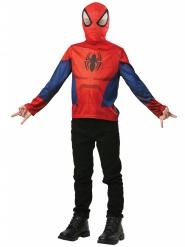 Spiderman™-T-Shirt und Haube Kostüm-Set blau-rot-schwarz