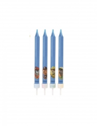 Paw Patrol™-Geburtstagskerzen-Set 4 Stück blau 9cm