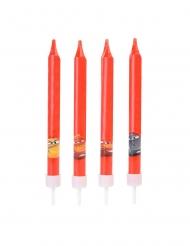 Cars™-Kerzen für Kindergeburtstage Kuchendeko 4 Stück rot 9cm