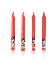 Mickey Maus™-Torten-Kerzen Kindergeburtstag 4 Stück bunt 9cm