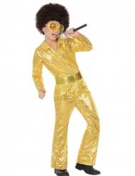 Disco-Kostüm für Jungen 70er-Jahre gold