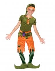 Wichtel-Kostüm für Kinder grün-orange