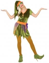 Elfen-Kostüm für Damen Wichtel-Verkleidung bunt