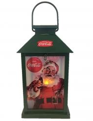 Coca Cola™-Laterne Weihnachten Raumdekoration bunt 12x26cm