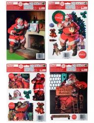 Coca Cola™-Aufkleber Weihnachts-Dekoration bunt 30x20cm