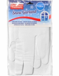 Winterliche Schnee-Girlande Weihnachten 2 Stück weiss 33x120cm