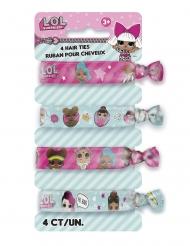 LOL Surprise™-Haargummis für Mädchen 4 Stück pink-weiss