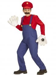 Fleißiger Klempner Kinderkostüm Videospiel  Retro-Verkleidung blau-rot