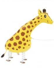 Giraffe Aluminium-Ballon Geschenkartikel gelb-braun-schwarz 86,3cm