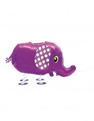 Kleiner Elefant Luftballon Kinder-Raumdekoration lila 81,2cm