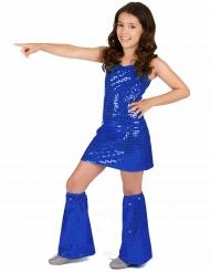 Königsblaues Pailletten Disco-Kleid für Mädchen
