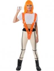Rothaarige Superheldin für Damen Filmkostüm weiss-orange-schwarz
