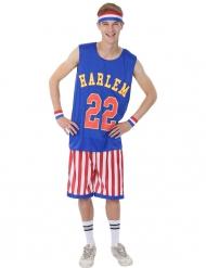 Basketball-Spieler Kostüm für Erwachsene Sportler blau-rot-weiss