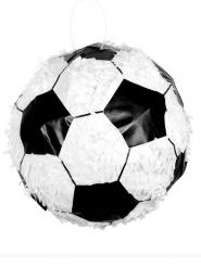 Fussball-Pinata Fanartikel Party-Spielzeug schwarz-weiss 30cm