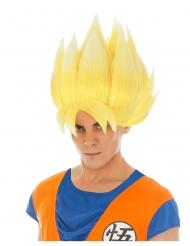 Saiyan Goku™-Perücke für Erwachsene Dragonball Z™ gelb