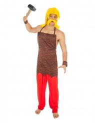 Automatix™-Asterix und Obelix Herrenkostüm braun-rot