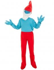 Die Schlümpfe™-Papa Schlumpf Kostüm für Kinder blau-rot