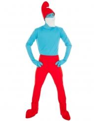 Die Schlümpfe™-Papa Schlumpf Kostüm für Erwachsene blau-rot