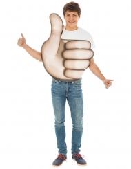 Emoji™-Daumen hoch Unisex-Kostüm für Erwachsene beige