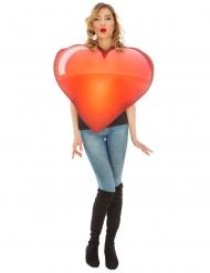 Emoji™-Herz Unisex-Kostüm für Erwachsene rot