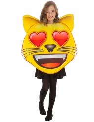 Emoji™-Katzenkopf mit Herzchen Kinderkostüm gelb-rot