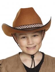 Cowboy-Kinderhut Wilder Westen Kostümzubehör braun