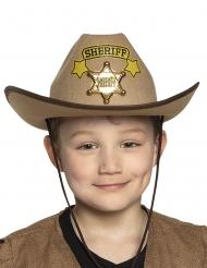 Cowboy Sheriff-Hut Kostümzubehör für Kinder braun