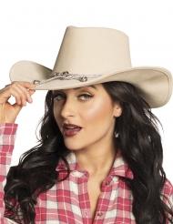 Cowboy-Hut Kostümzubehör für Erwachsene beige