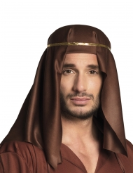 Scheich-Kopfbedeckung arabisches-Kostümzubehör braun